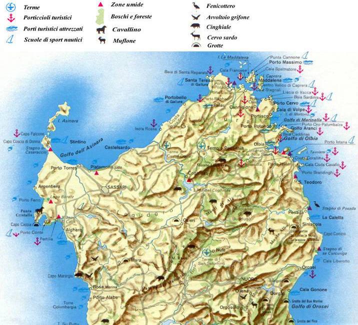 Cartina Nord Sardegna.Cartine E Mappe Della Sardegna Italia Carta Ambiente