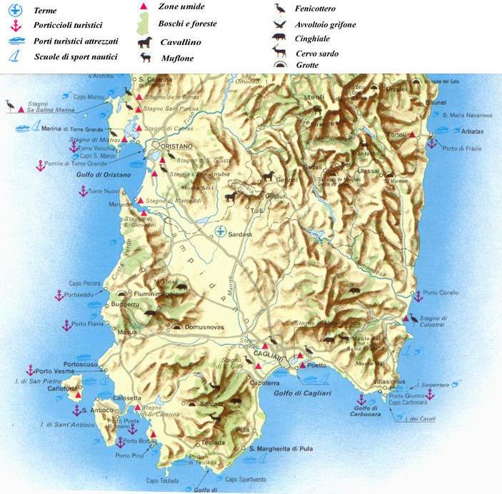 Cartina Sardegna Sud.Cartine E Mappe Della Sardegna Italia Carta Ambiente